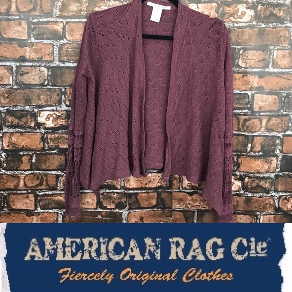 e1456979e American Rag Sweaters - (5 for $15) American Rag Mulberry Lace Cardigan